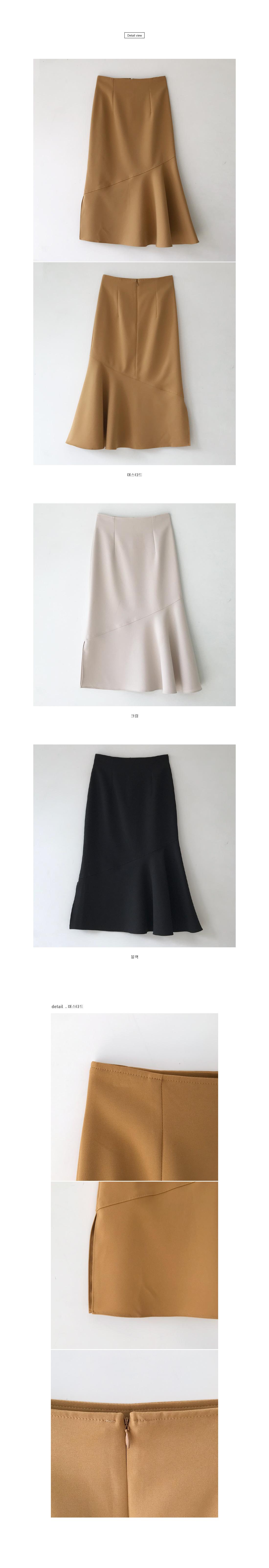 Kishuyuu frill long skirt - Black S ships same day