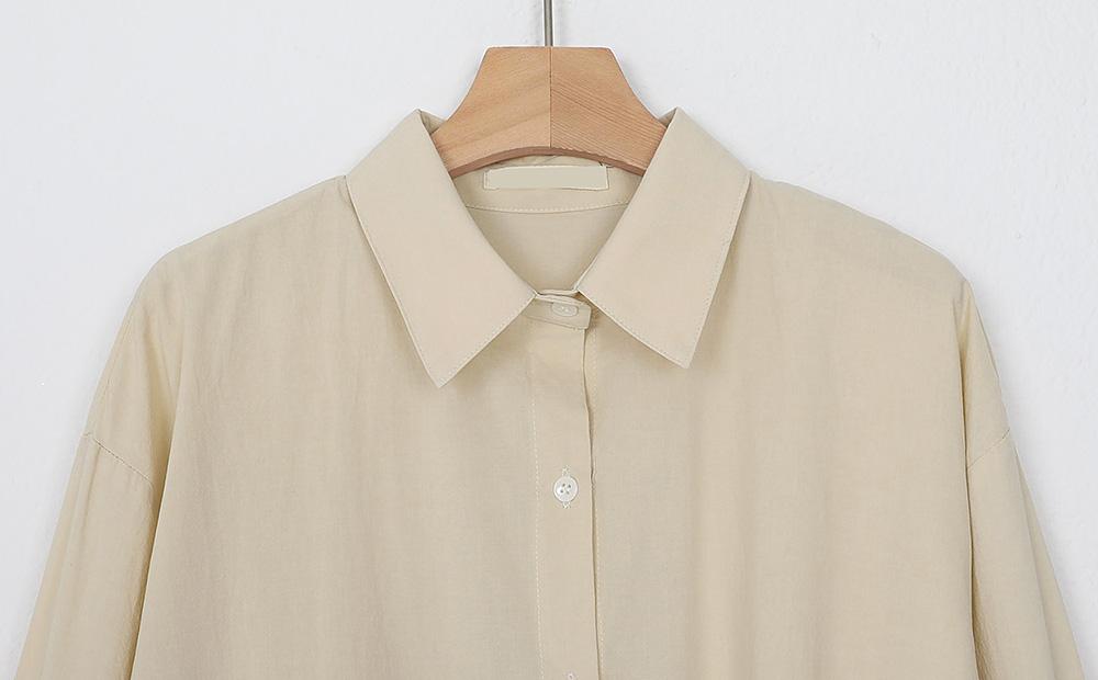 button shirt one-piece (2colors)