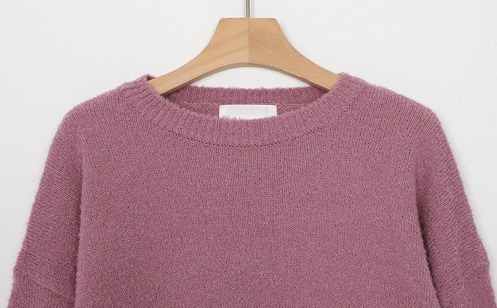 boucle round knit (4colors)