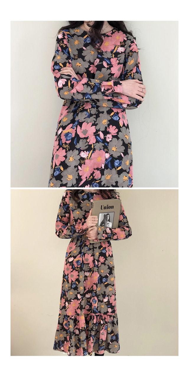 Chiffon Lara Flower Dress