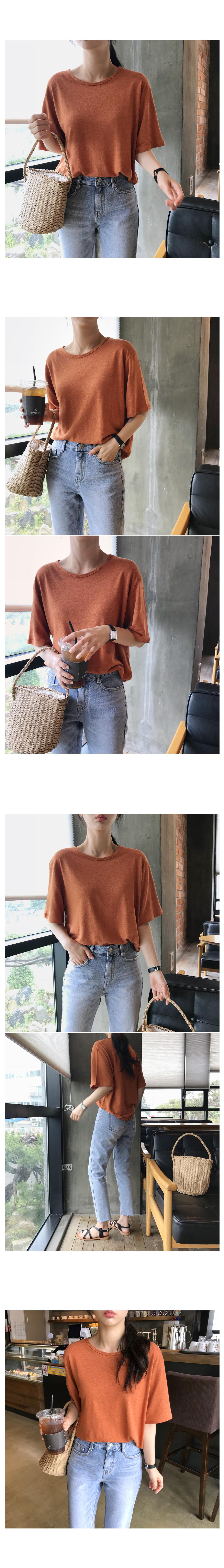 Easy Ruzpit Linen T-shirt