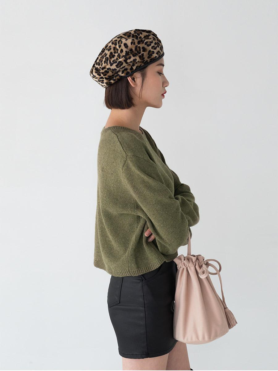 leopard pattern beret