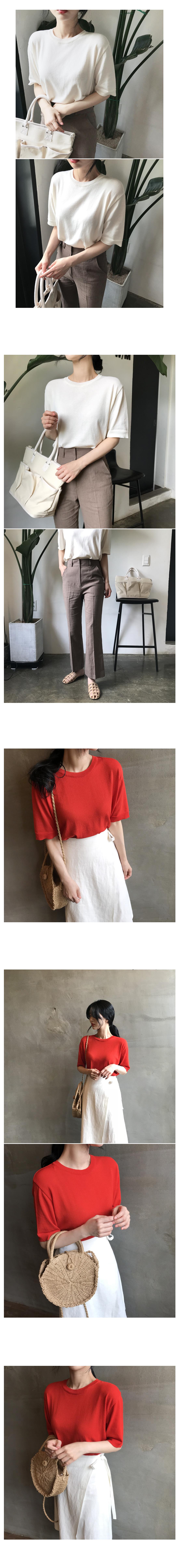 Vanilla Summer Short Sleeve Knit - Red ships same day