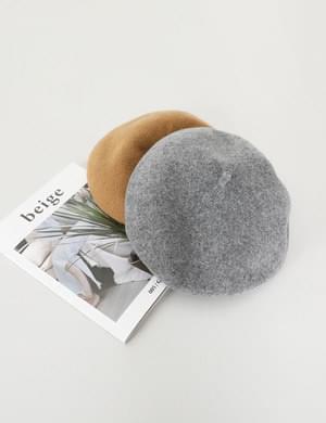 Formal fit bending wool beret