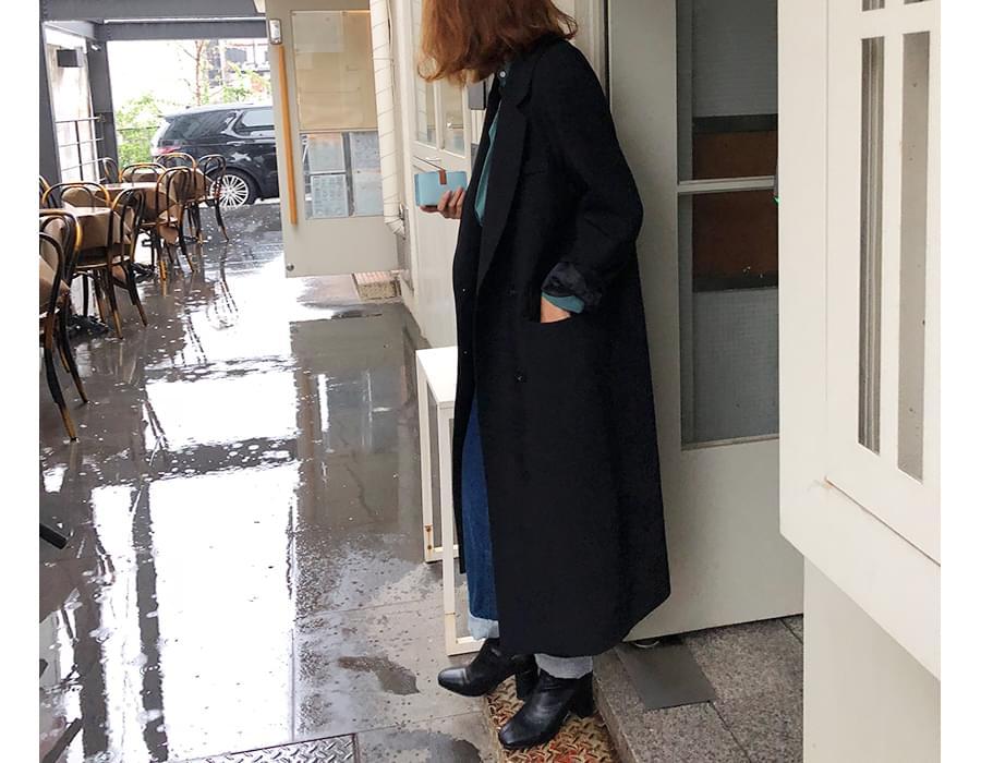 Charmant long dubble jacket_S (size : free)