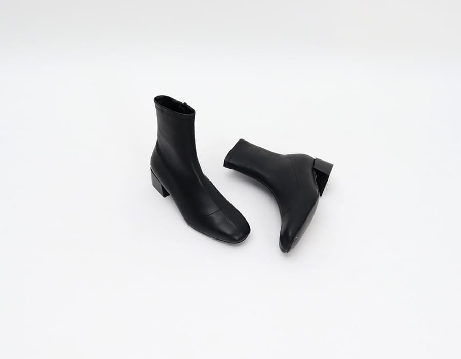 Noir leather boots_K (size : 225,230,235,240,245,250)