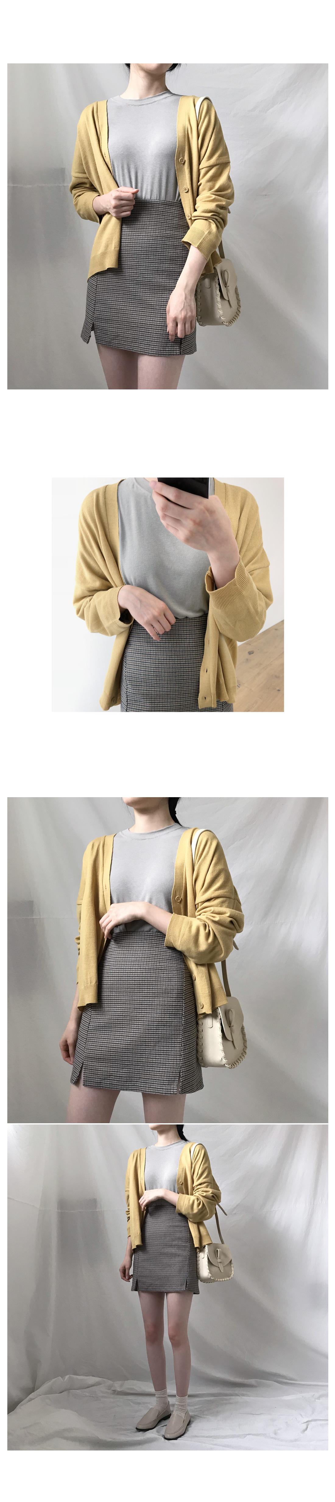 Donut basic knit cardigan