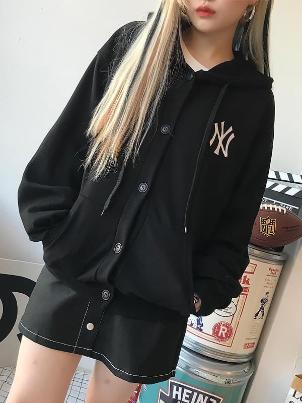 NY Hoody Cardigan