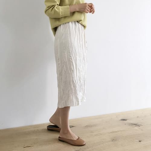 Rene Ruffle Midi Long Skirt - Ivory ships same day