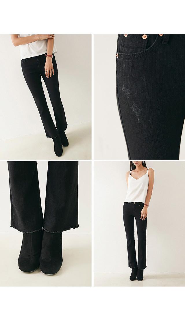 Black boots cut pants