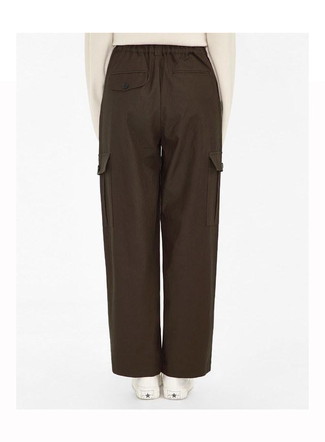 pocket detail cotton pants