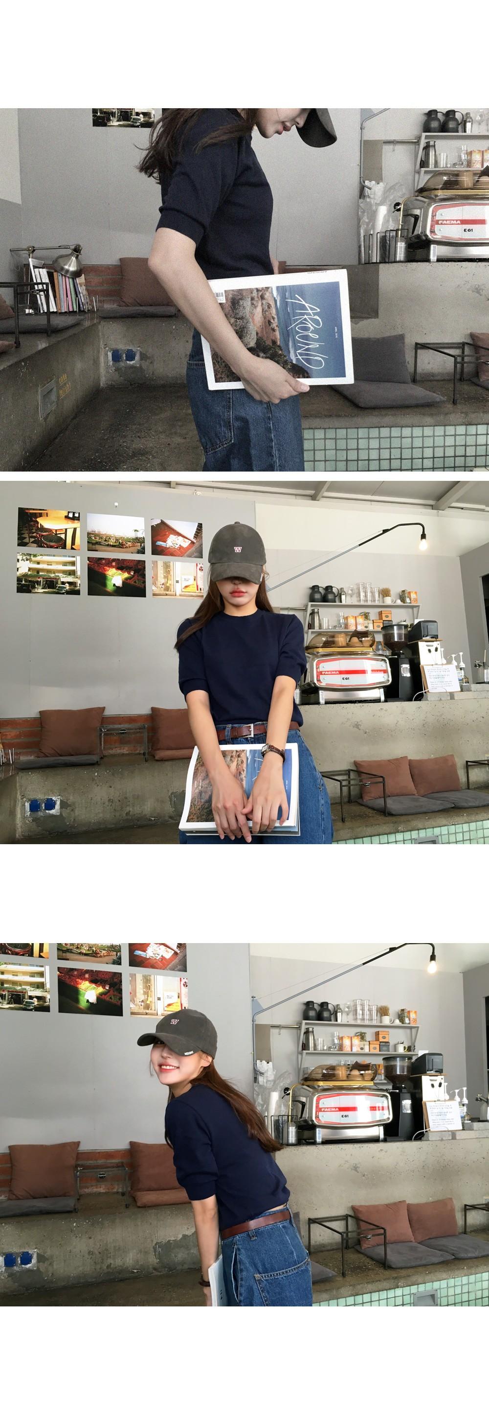 Cashmere short sleeve knit