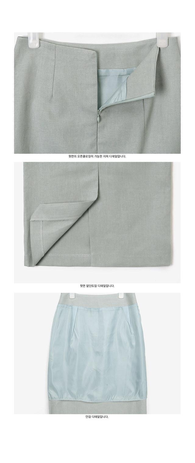 feature long linen skirt (s, m)