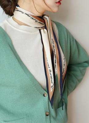 레터링 스카프 (4color)