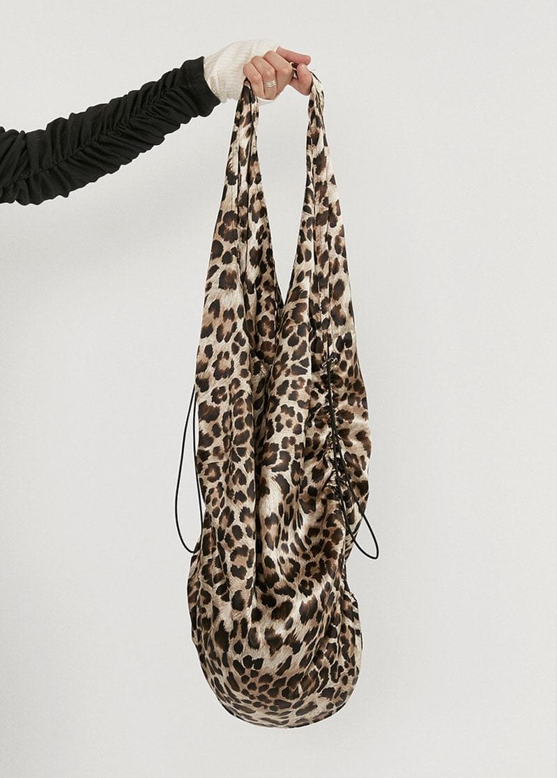 Leopard Shirring Bag