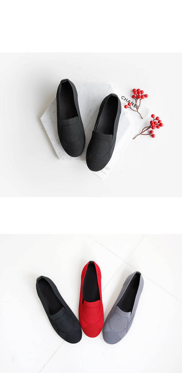 Trinns Knit Flat Shoes 1.5cm
