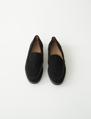 buttonhole stitch suede loafers (3colors)