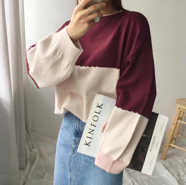 Shamid color knit