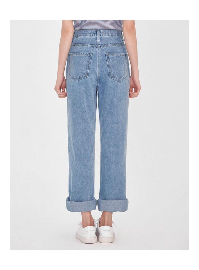youse semi boots denim pants (s, m)