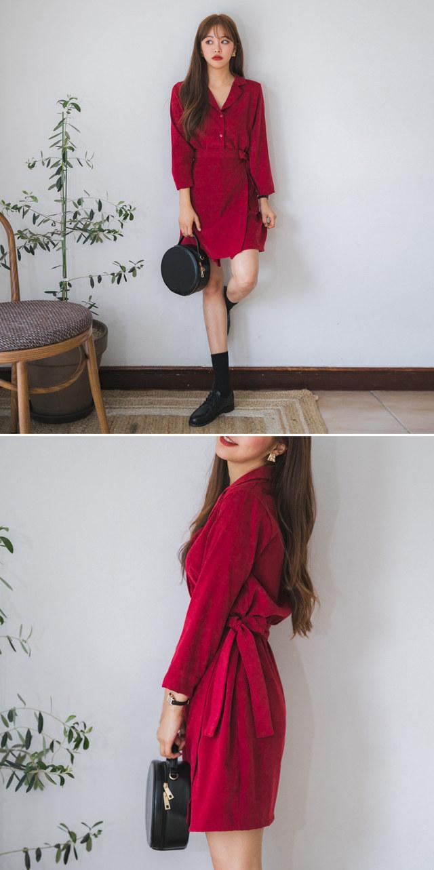 Mood Collar Wrap Dress