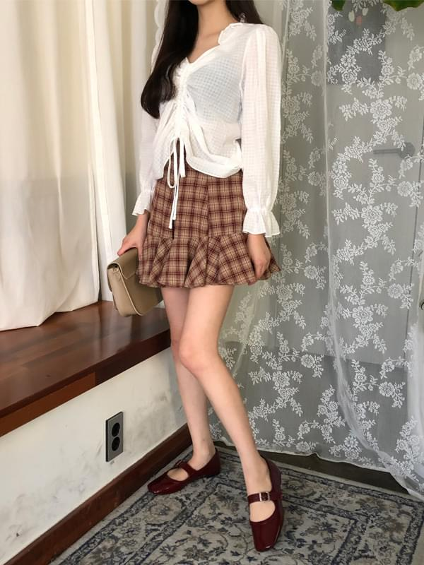 Alice check frilly skirt