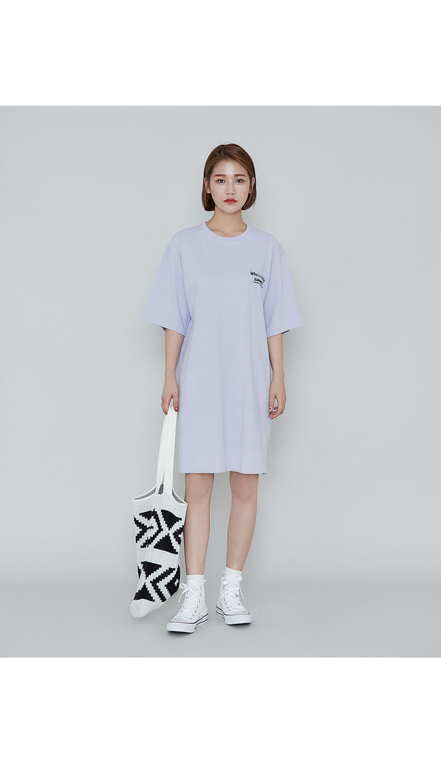 Kitsch printing cotton dress
