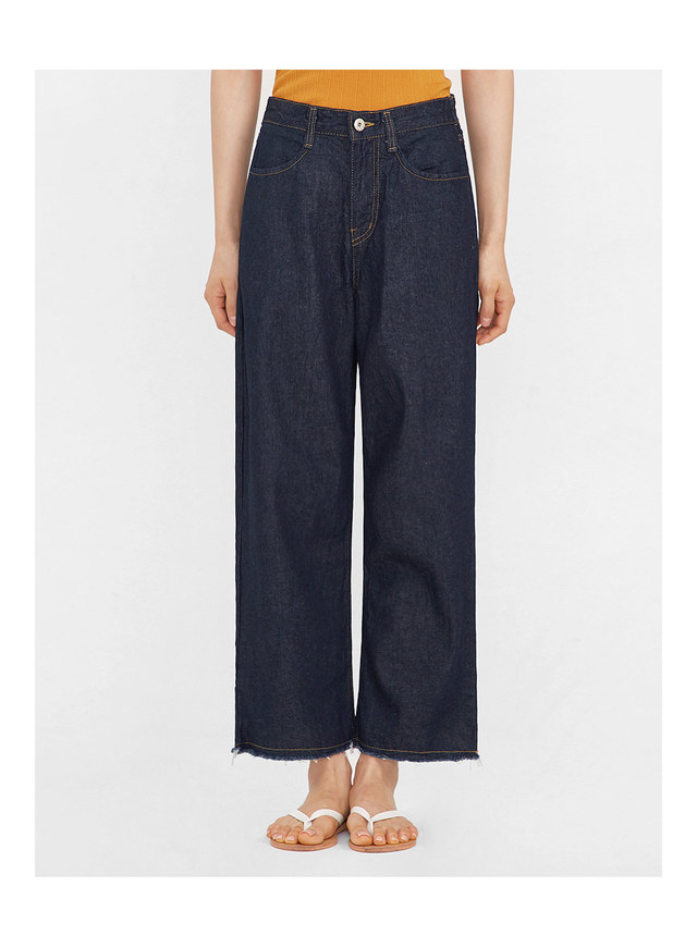 part wide denim pants