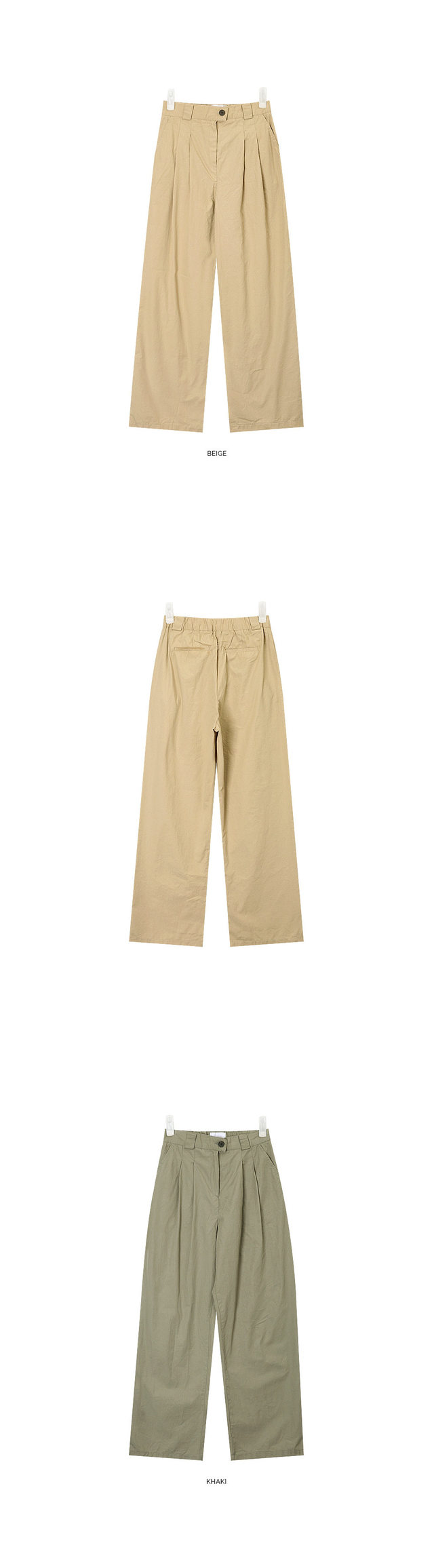 sandy pintuck wide slacks
