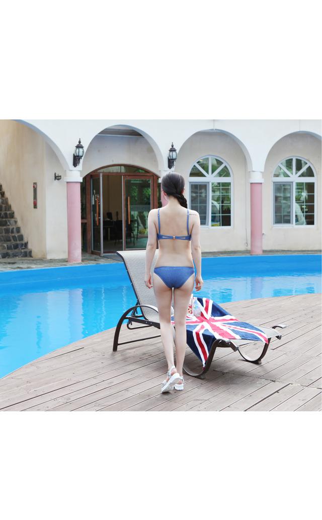 Denim holter bikini