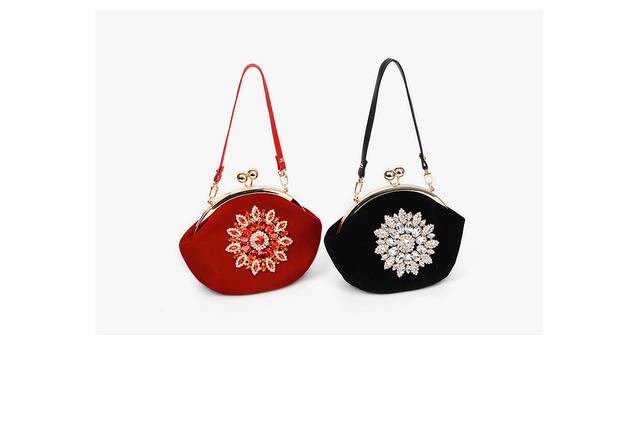 luxury cubic velvet bag