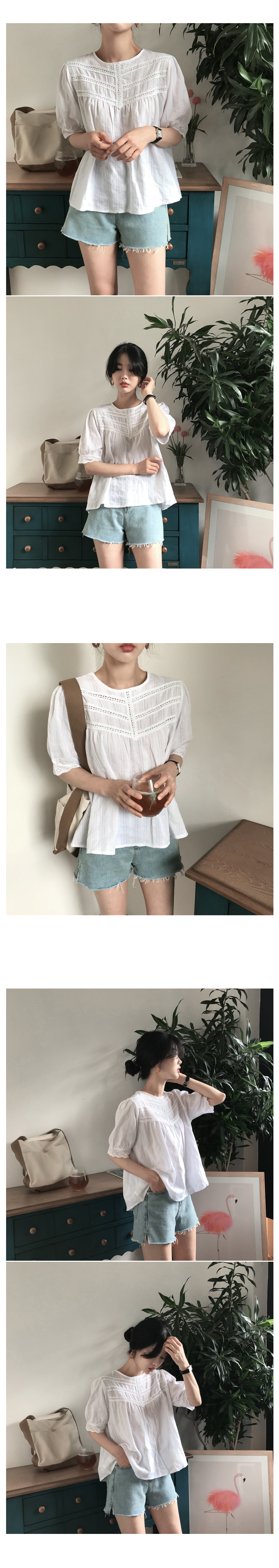 Muffin lace blouse