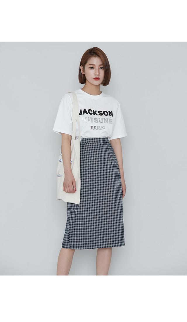 Biscuit checkcock skirt