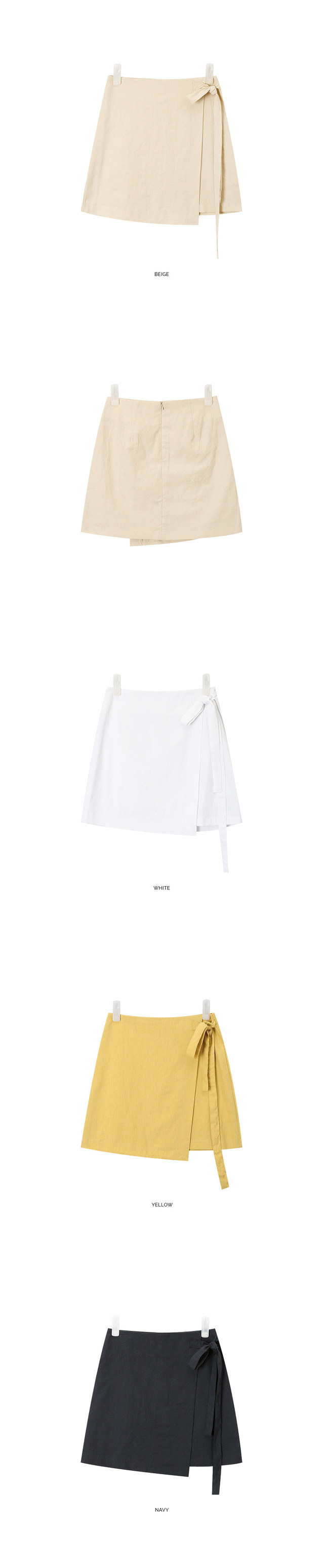 see lovely linen wrap skirt (s, m)