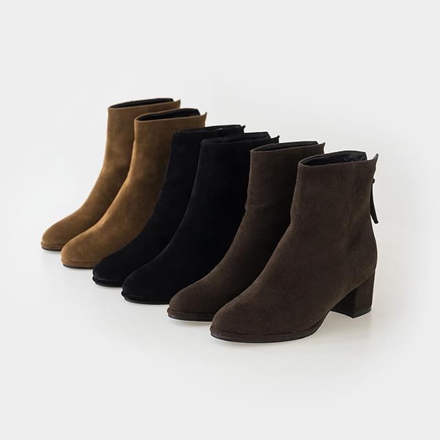 back zipper boots