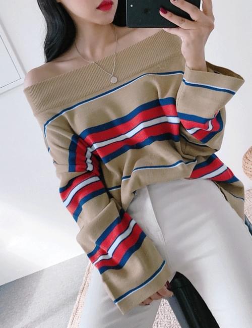 Melan open Tigara knit