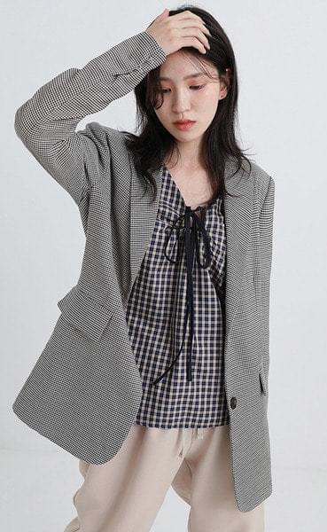 scence check jacket (2colors)