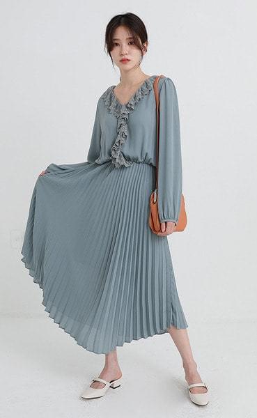 lady tassel pleats one-piece (3colors)