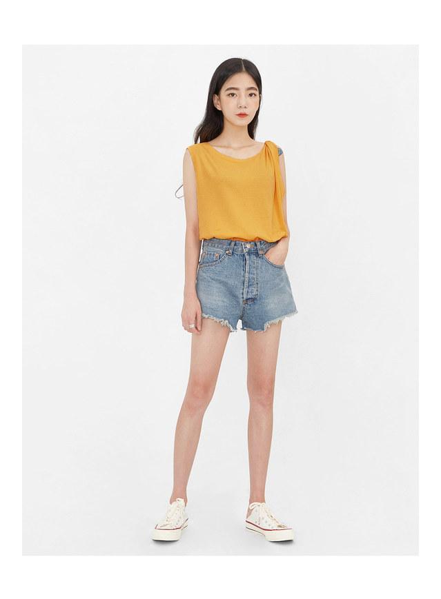 eve denim short pants (s, m)