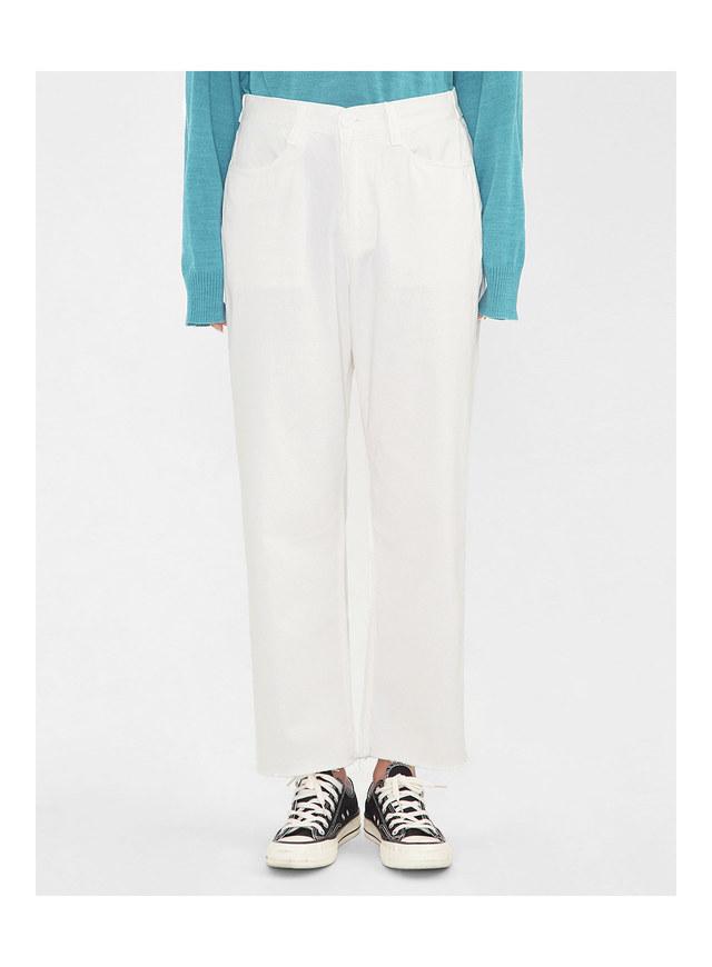 wood wide cotton pants