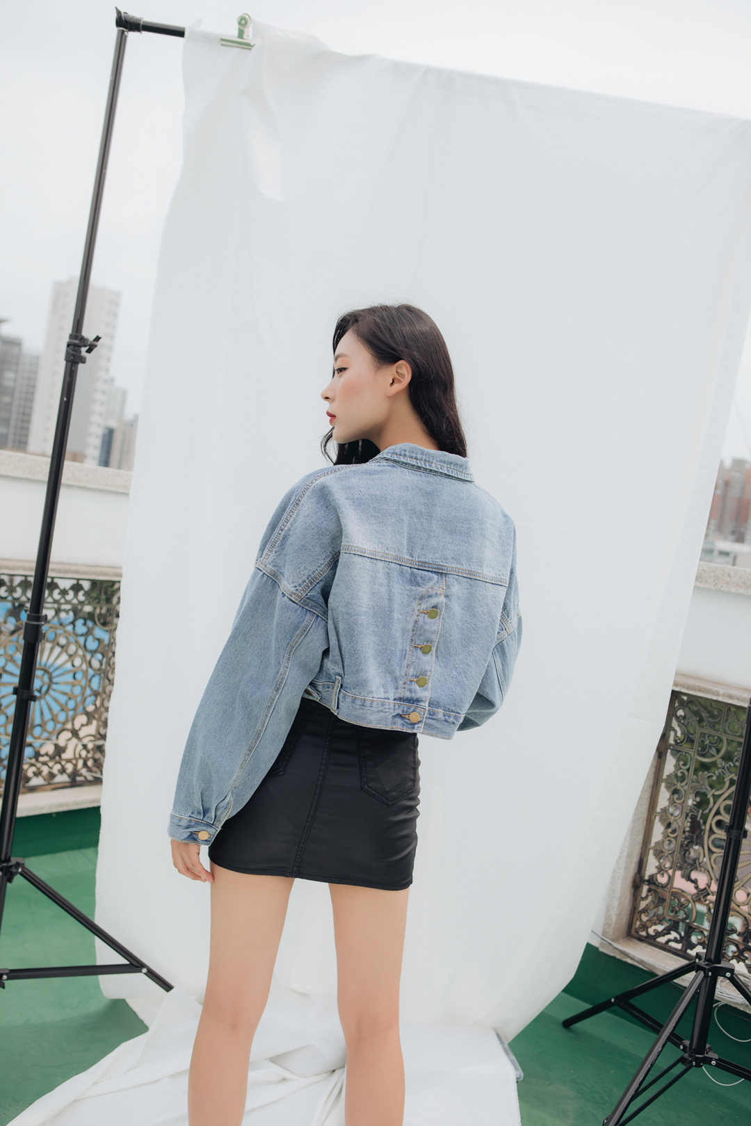 Buying denim short jacket