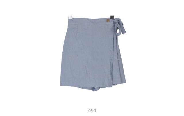 Linen wrap shorts P