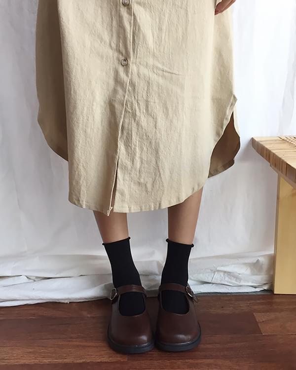 Plain Shirt Long - 3color