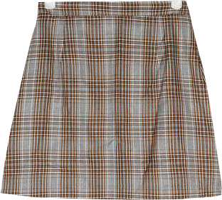 trendy check mini skirts (s, m)