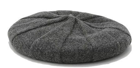 Whirlwind design wool beret