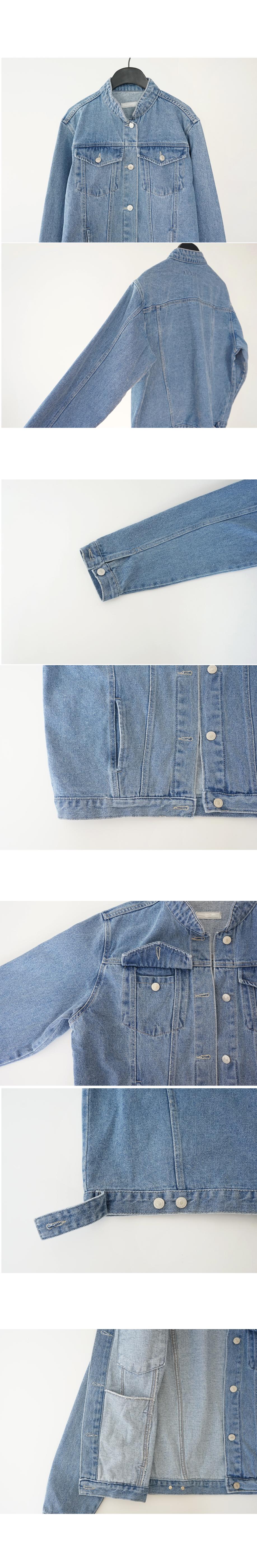 china collar denim jacket