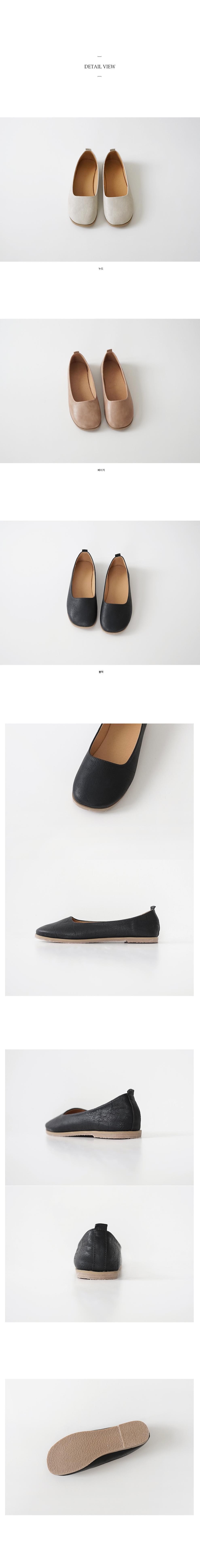 chunky toe flat shoes (3colors)