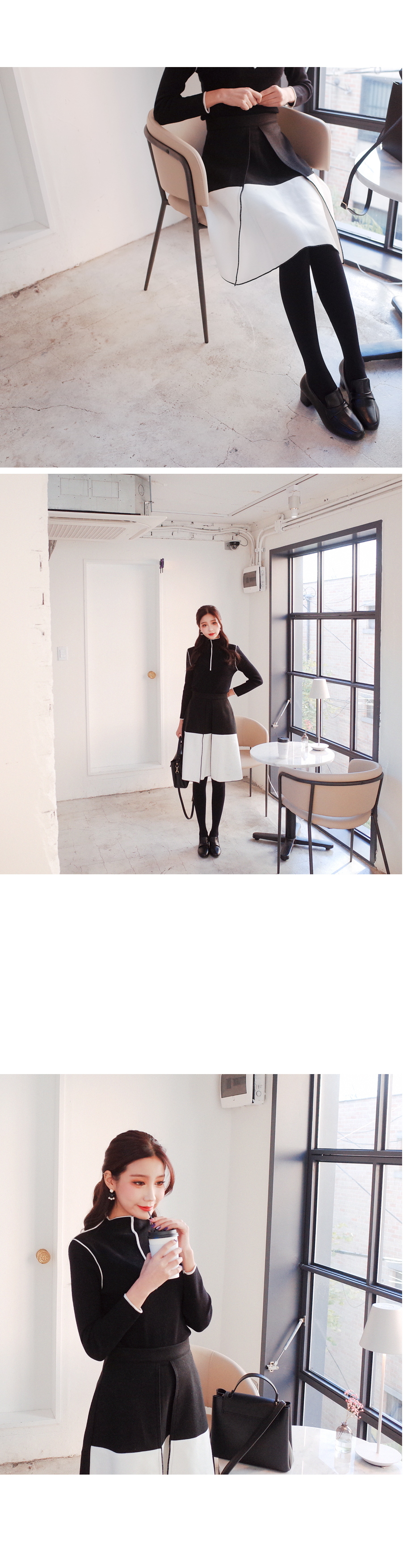 Fit from south knit knit + skirt SET