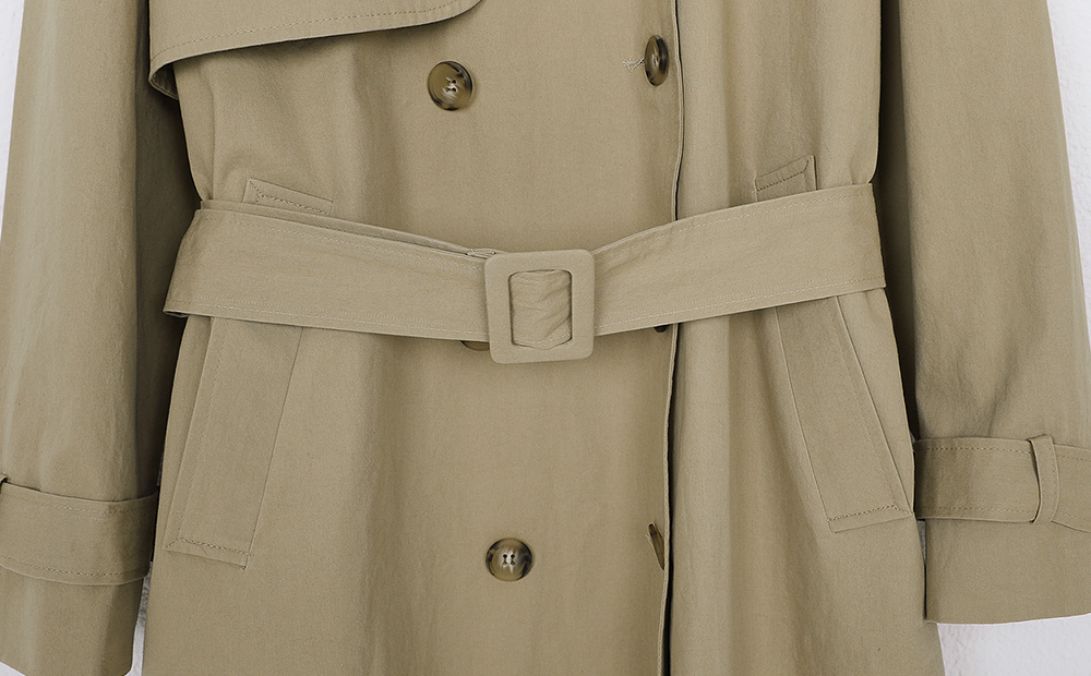 some double trench coat (2colors)