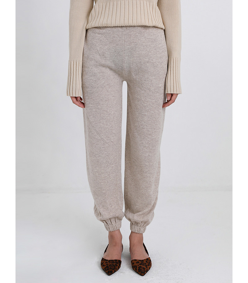 knit banding jogger pants (3colors)
