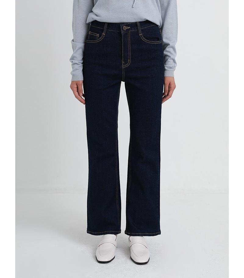 semi boots deep denim pants (2colors)
